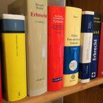 Erbrecht - Auswahl umfangreicher Fachbücher und Gesetze in unserer Kanzlei