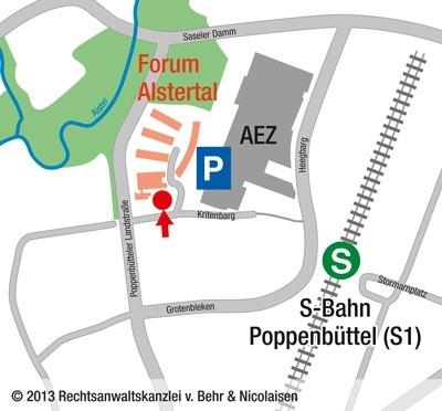 rechtsanwaltskanzlei-behr-und-nicolaisen-anfahrtsskizze-forum-alstertal